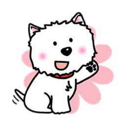 Snow Westie Dog Sticker