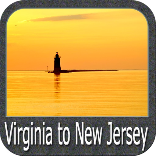 Marine : Virginia to New Jersey GPS map Navigator