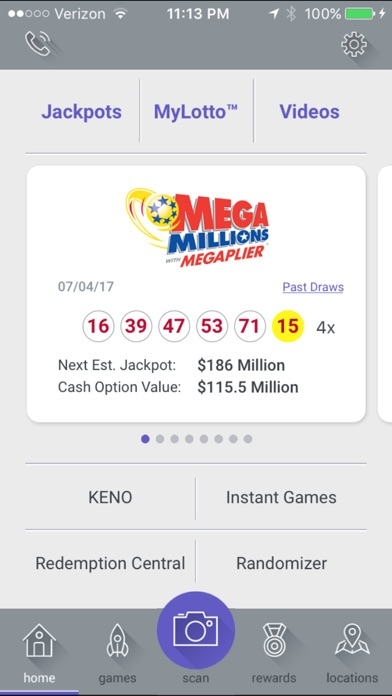 Screenshot for Ohio Lottery in United States App Store