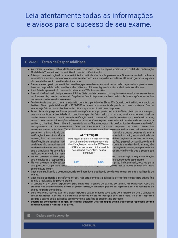 Certificação ANEPS screenshot 6