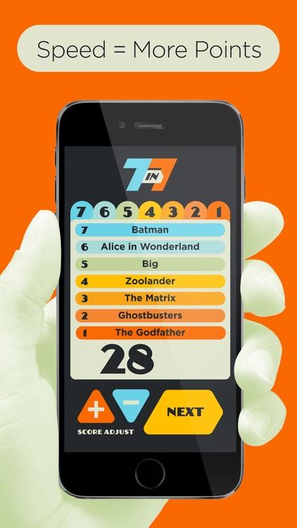 7 in 7: Pop Culture Party Game screenshot-3