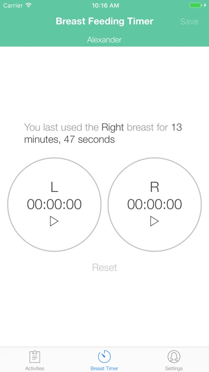 BoobieTime Breast Feeding App screenshot-1