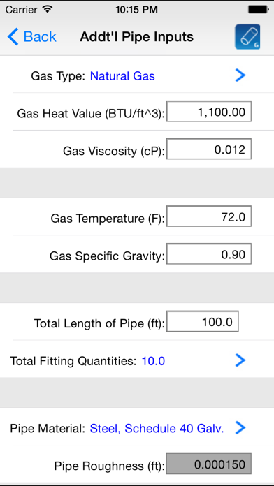 HVAC Pipe Sizer - Gas Low | App Price Drops