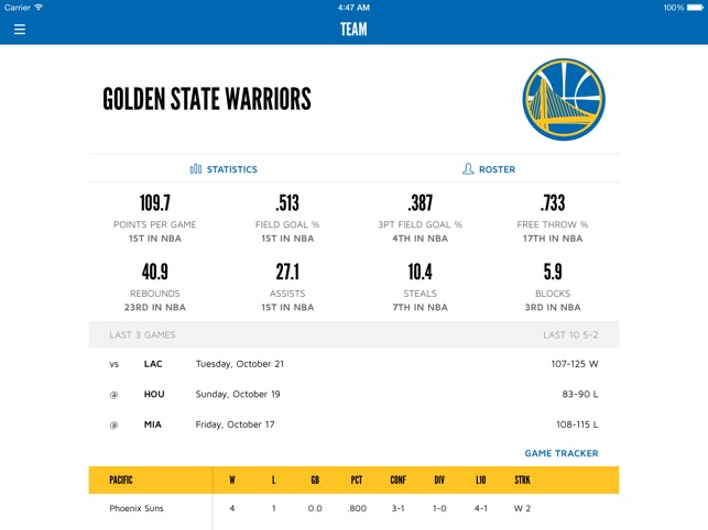 golden state warriors on the app store
