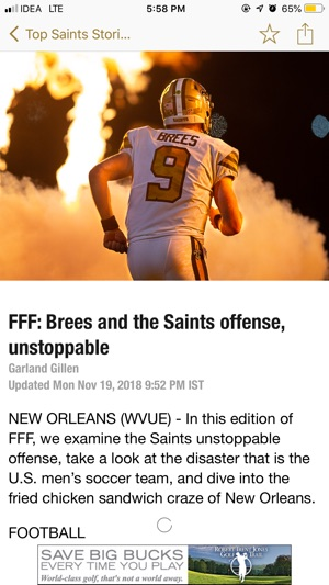 6afe90f272a Final Play: Saints News on the App Store
