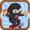 Jumpy Skateboard Ninja- The Royale Sword Hero Dude Drive Adventure