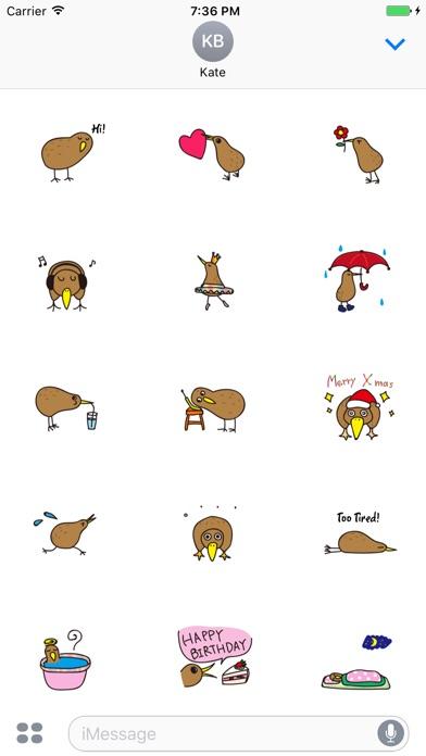 Kiwi The Lonely Bird Sticker screenshot 1