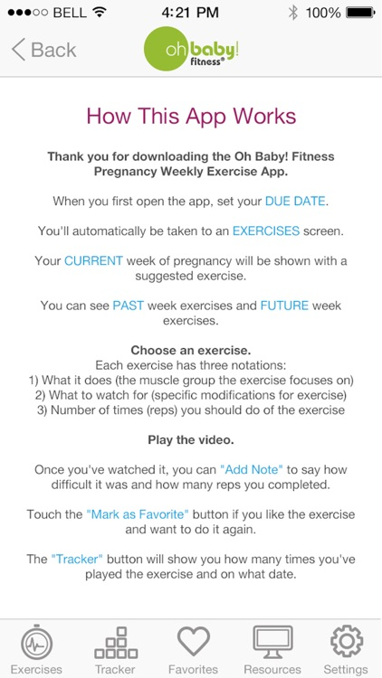 Oh Baby! Pregnancy Exercise