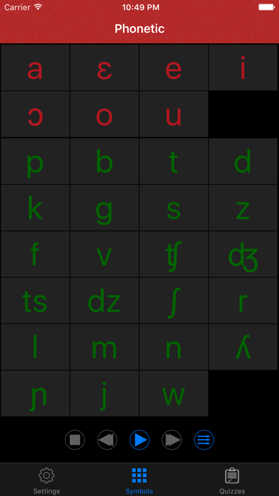 Italian Sounds and Alphabet screenshot one