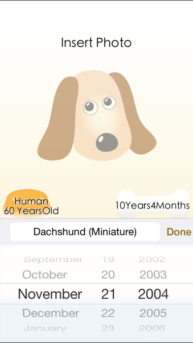 Dog Age Save pictures calculating screenshot three