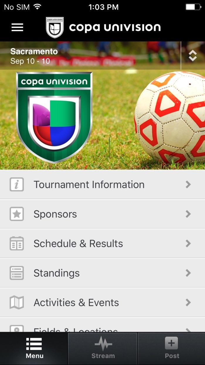 Copa Univision Screenshot