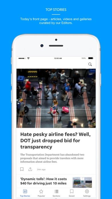 Greenville News Screenshot on iOS
