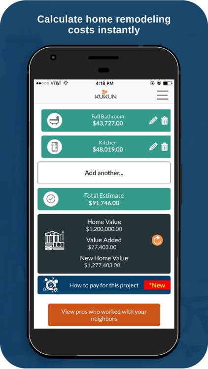 Kukun: Home Remodeling by Kukun Incorporated on business apps, accounting apps, cooking apps, security apps, clothing apps, health apps, automotive apps, design apps,