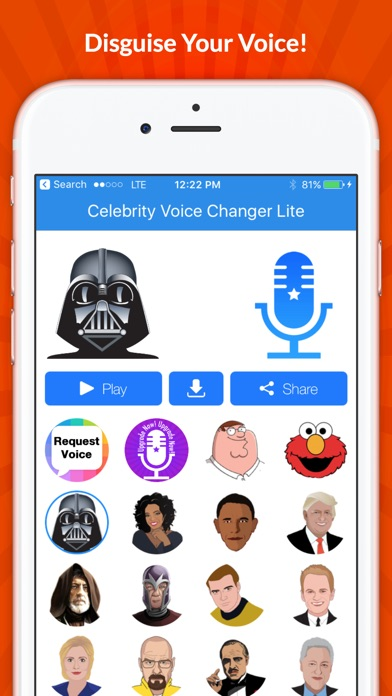 Celebrity Voice Changer - Face Screenshot
