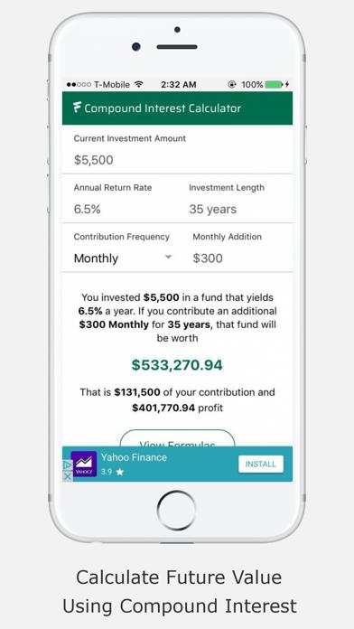 Compound Interest Calculator F screenshot one