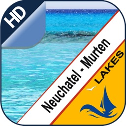 Neuchatel & Morat Lake offline nautical sail chart