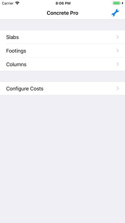 Concrete Pro - Cost Calculator