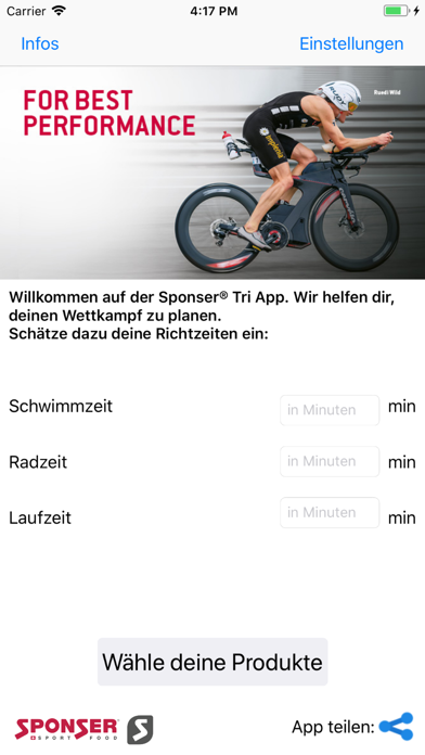 SponserTriathlonAppScreenshot von 1