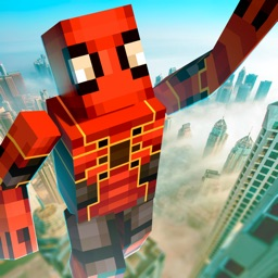 Cube Spider Hero in City 3D
