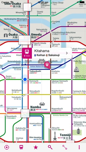 Osaka Rail Map Lite on the App Store