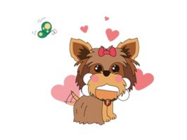 Yorkshire Terrier Dog - YorkieMoji Sticker