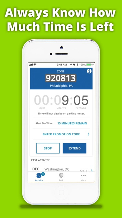 Screenshot for meterUP Parking in United States App Store