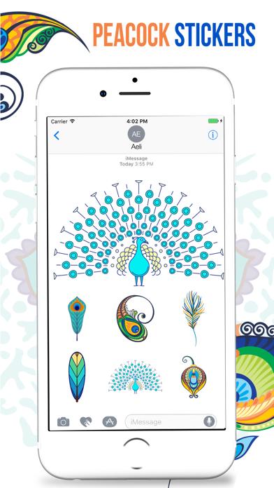 Peacock Stickers screenshot three
