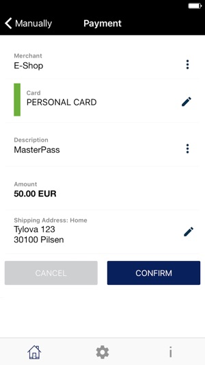 Masterpass AT CZ SK Screenshot