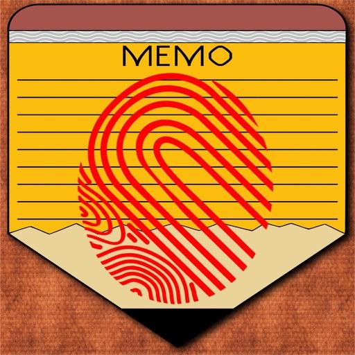 FingerID Password Memo iOS App