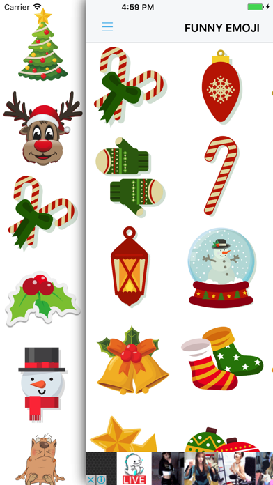 Xmas Emoji - Santa Sticker screenshot one