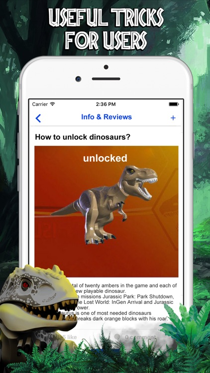 Cheats for LEGO Jurassic World