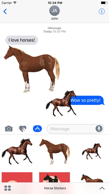 Majestic Horse Stickers