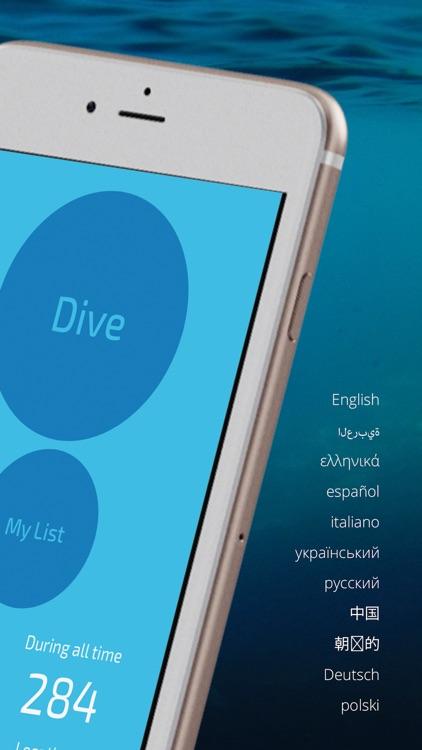 Dive Number-scuba logbook
