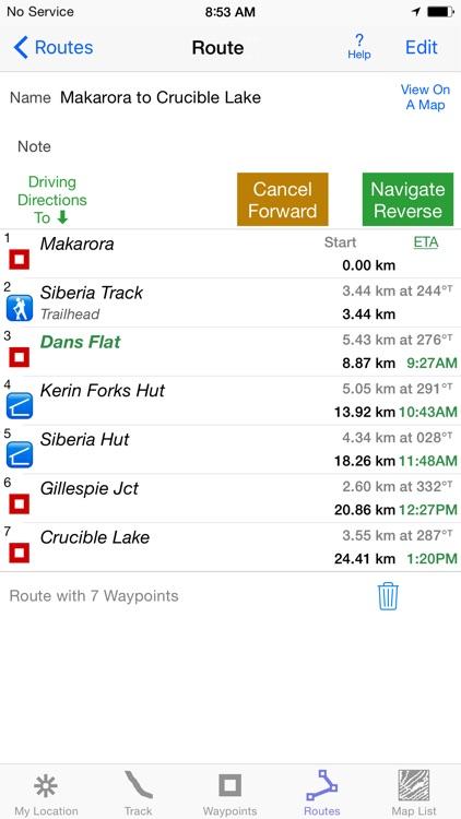 i Hike GPS NZ : Topo Maps screenshot-3