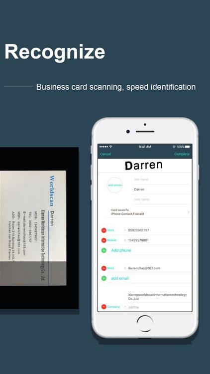 FoxCard-Card scanner OCR Scan screenshot-4