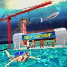 Water Restaurant Construction icon