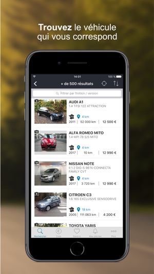 la centrale voiture occasion dans l app store. Black Bedroom Furniture Sets. Home Design Ideas