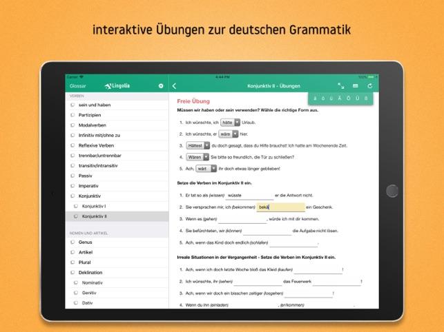 Lingolia Deutsche Grammatik im App Store