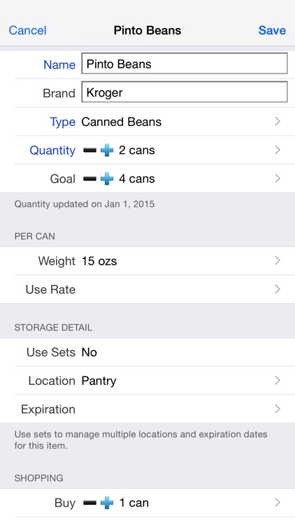 Home Food Storage (Pantry, Prep or Grocery) screenshot-3