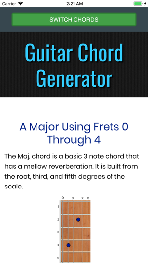 Guitar Chord Generator Gc On The App Store