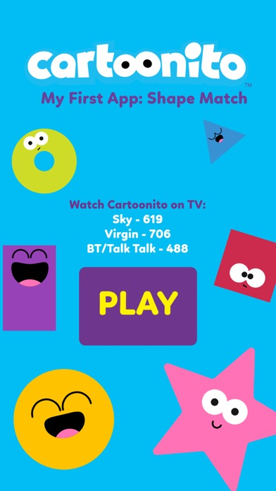 Cartoonito: Shape Match screenshot one