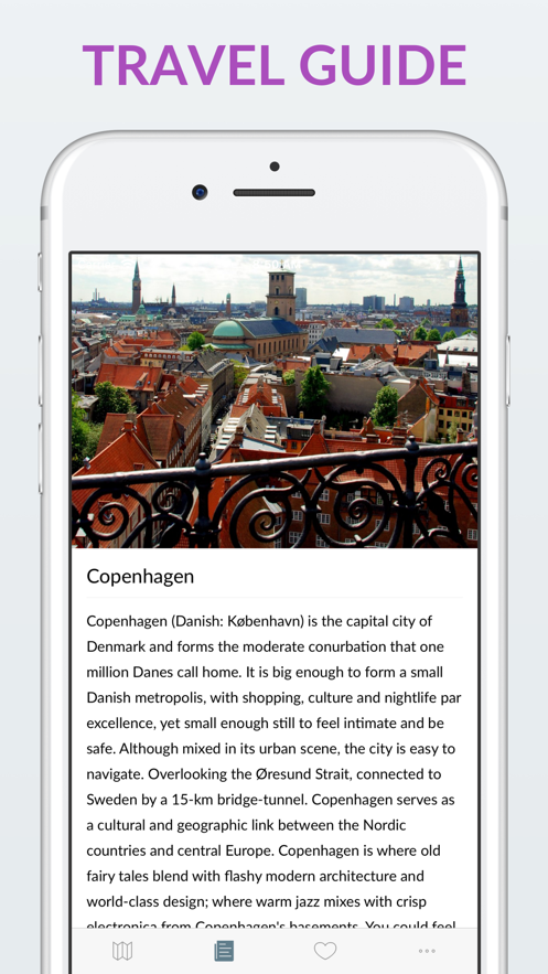 Copenhagen Offline Map & Guide App 截图