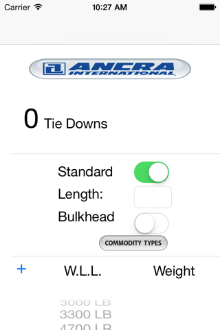 Ancra Tie Down Calculator - náhled