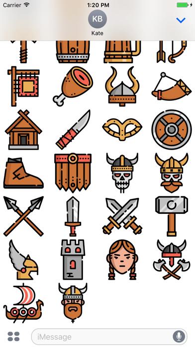 Screenshot for Vikings Stickers Emojis in Egypt App Store