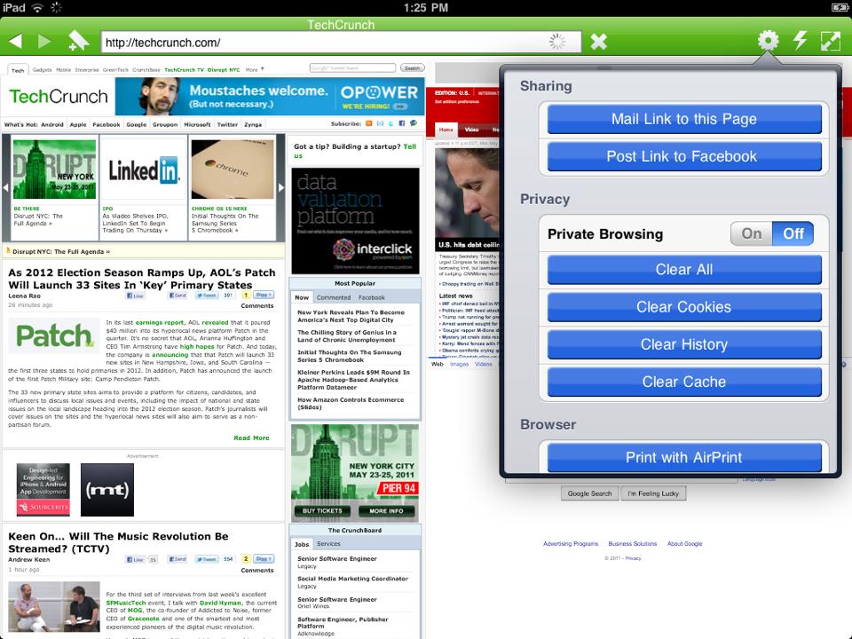 Flash Player + navegador web para iPad por Photon