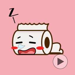 Cutie Roll GIFs - Toilet Roll Emoticons Emoji