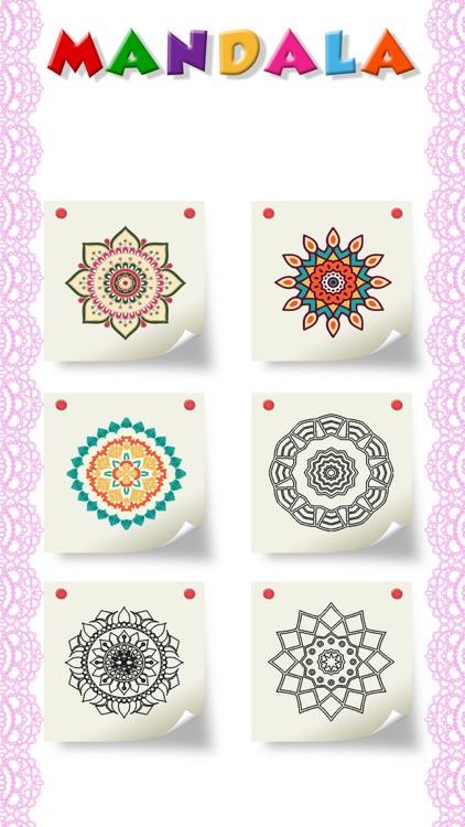 Mandala Color By Number Paint screenshot-3
