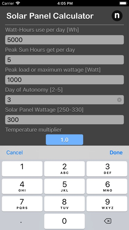 Solar Panel Calculator Plus screenshot-3