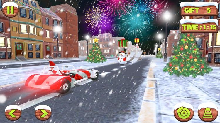Xmas Santa Car Gift Delivery screenshot-3