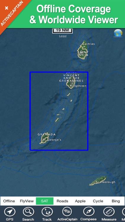 Grenadines & Grenada HD charts screenshot-4